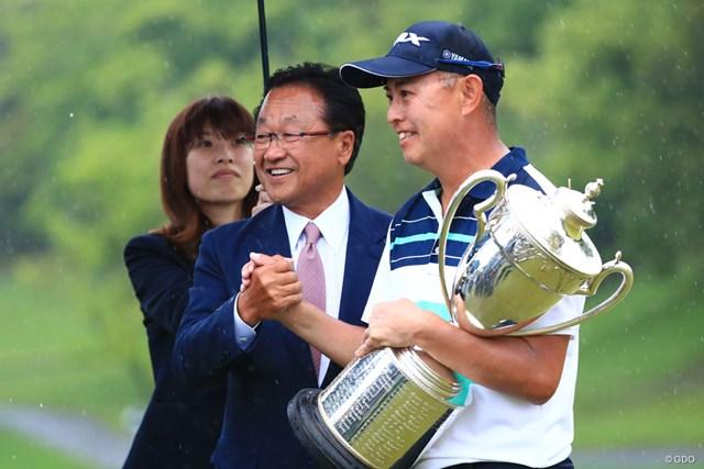 2018年 日本プロゴルフ選手権大会 最終日 谷口徹 前年、大会最年長で制した谷口徹。今年は51歳で記録更新なるか