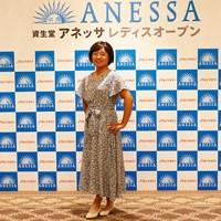 ポージングも初々しいです 2019年 資生堂アネッサレディスオープン 事前 永峰咲希