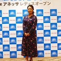 お気に入りのドレスです 2019年 資生堂アネッサレディスオープン 事前 比嘉真美子