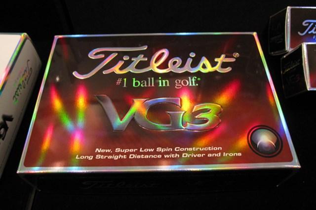 ギアニュース 「VG3ゴルフボール」が登場!タイトリスト、コブラ、フットジョイ新製品発表会 NO.1 日本限定のディスタンス系ボール「タイトリスト VG3ボール」