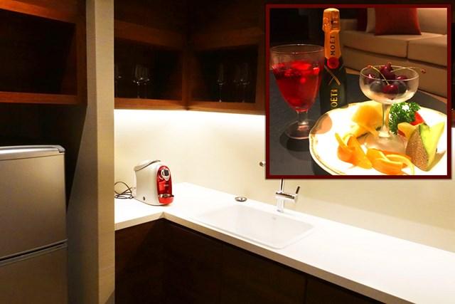 冷蔵庫にはなんとウェルカムフルーツが!