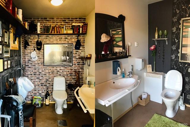 トイレ 左が男子トイレで、右が女子トイレ