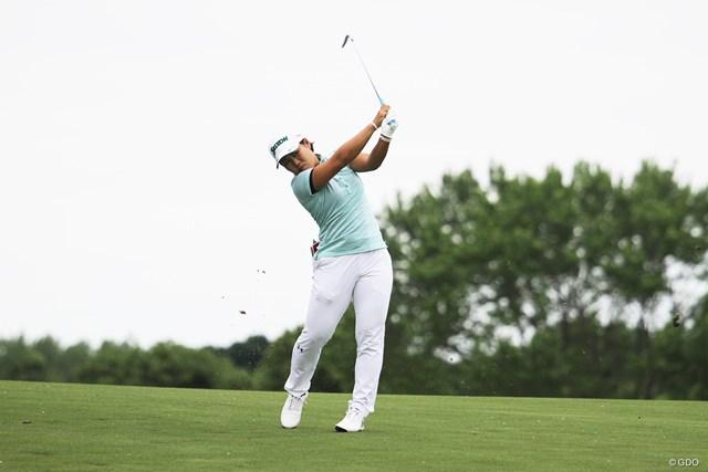 畑岡奈紗は今季2勝目に向け好発進 ※KPMG女子PGA選手権で撮影