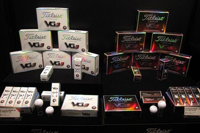 ギアニュース 「VG3ゴルフボール」が登場!タイトリスト、コブラ、フットジョイ新製品発表会 NO.16 飛び性能かつ超ソフトな打感が特長の「VG3ボール」
