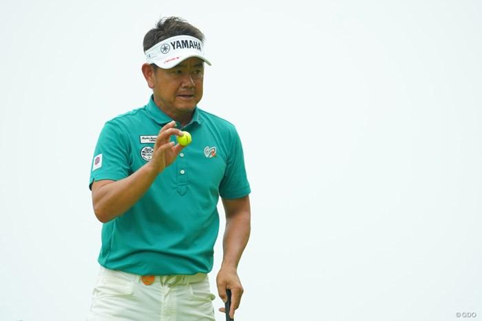 今季2度目の首位発進を決めた藤田寛之 2019年 日本プロゴルフ選手権大会 初日 藤田寛之