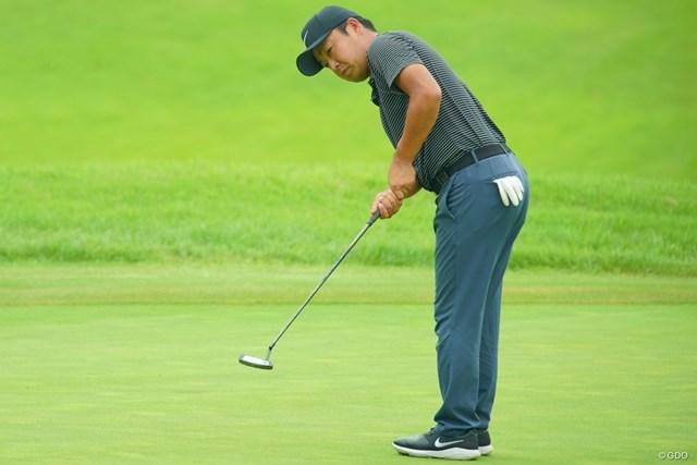 2019年 日本プロゴルフ選手権大会 初日 時松隆光 時松隆光のパッティングが冴えた
