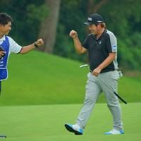 最終18番、バーディゲット!11位タイスタート! 2019年 日本プロゴルフ選手権大会 初日 大槻智春