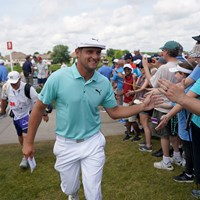 ブライソン・デシャンボーが「62」をマークした(Jerry Holt/Star Tribune via Getty Images) 2019年 3Mオープン 2日目 ブライソン・デシャンボー