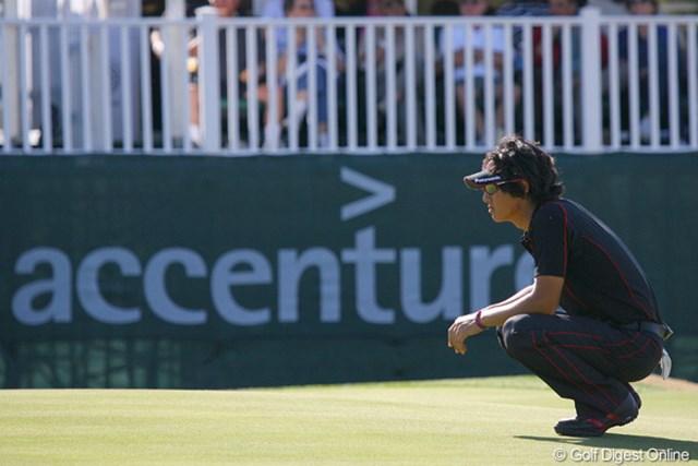 2010年 WGCアクセンチュアマッチプレー選手権 初日 石川遼 この日はポイントに挙げていたパッティングも冴え、粘りのプレーを続けた石川遼