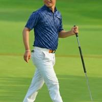 最終9番、バーディ締めに笑顔です。 2019年 日本プロゴルフ選手権大会 2日目 松原大輔