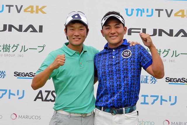 優勝した浅地洋佑(左)と池村寛世