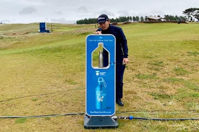 2019年 アバディーンスタンダードインベストメント スコットランドオープン 事前 川村昌弘 コース内で飲み水が補給できます