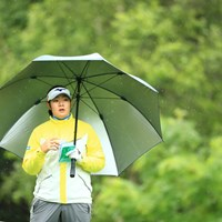 雨のゴルフはきついね 2019年 ニッポンハムレディスクラシック 2日目 川岸史果