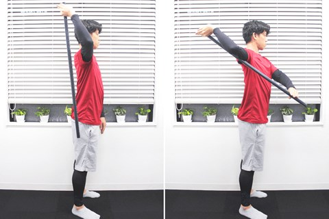 腕の背中と胸の練習