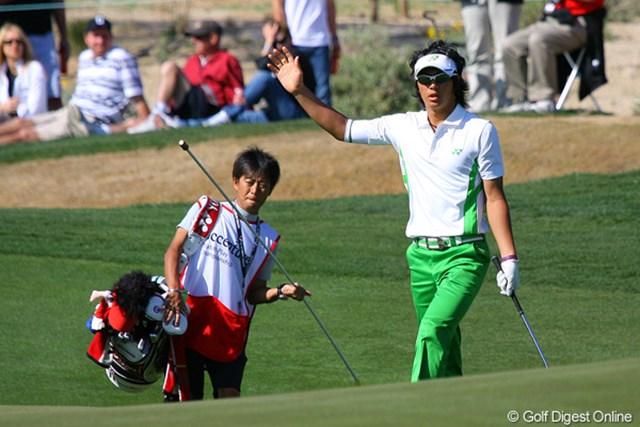2010年 WGCアクセンチュアマッチプレー選手権 3日目 石川遼 最初のドーミーホールとなる13番ではチップインバーディを奪う意地も見せたが・・・