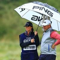 PINGの傘かわいい 2019年 全英オープン 最終日 L.ウェストウッド