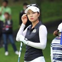 単独首位に立ったハン・スンジ ※提供日本女子プロゴルフ協会 2019年 ANA PRINCESS CUP 2日目 ハン・スンジ