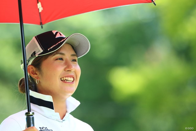 2019年 センチュリー21レディスゴルフトーナメント 2日目 大里桃子 おっと~いい笑顔ですね~