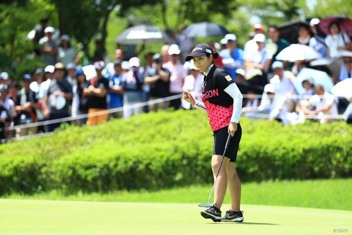 最後はしっかりガッツポーズ 2019年 センチュリー21レディスゴルフトーナメント 最終日 笠りつ子