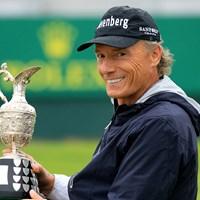 ベルンハルト・ランガーが「全英シニア」を制し、40勝目(Phil Inglis/Getty Images) 2019年 全英シニアオープン 最終日 ベルンハルト・ランガー