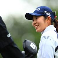 練習日はみんな笑顔でいっぱい 2019年 AIG全英女子オープン 事前 比嘉真美子