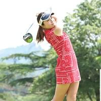 井上りこが逆転でプロ初優勝(※写真は2日目、日本女子プロゴルフ協会提供) 2019年 カストロールレディース  最終日 井上りこ