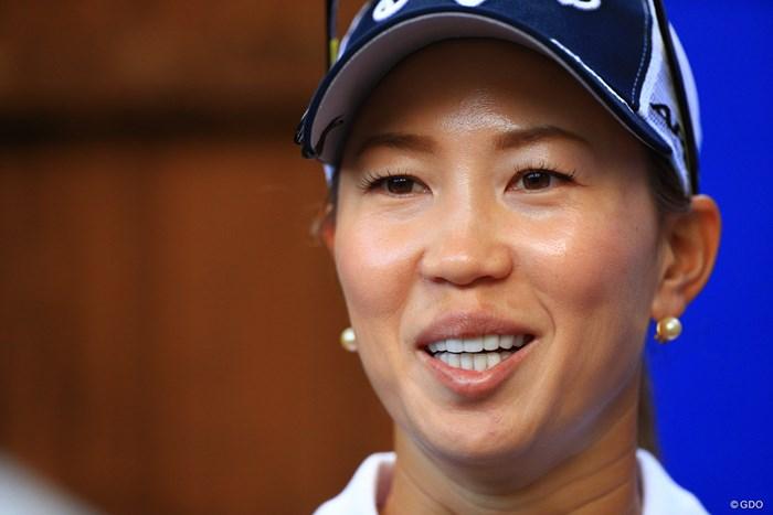 予選通過に安堵の笑顔 2019年 AIG全英女子オープン 2日目 上田桃子