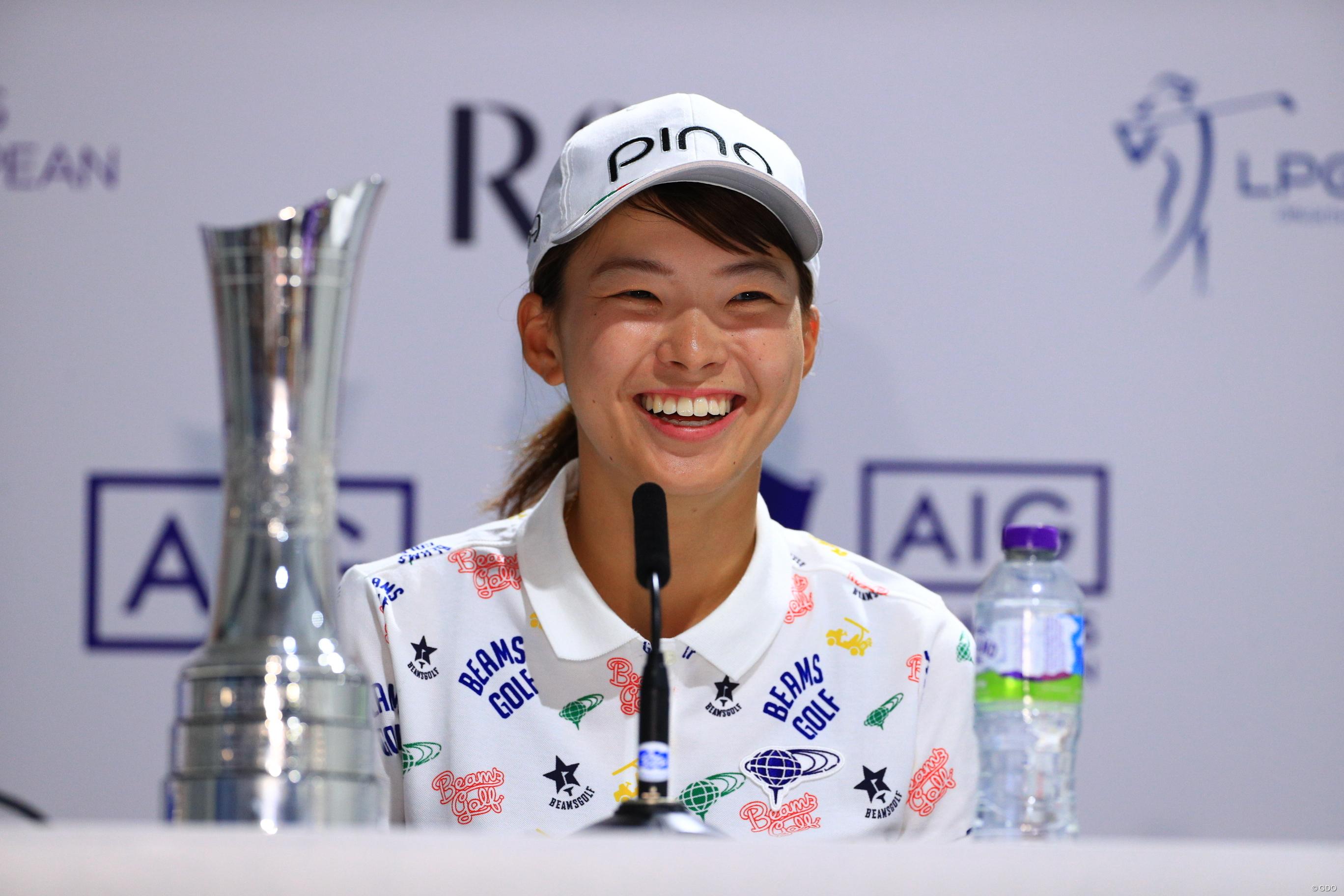なんで優勝したんだろう」渋野日向子が記者会見【LPGAツアー