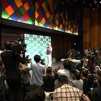 大勢の報道陣が集まった渋野日向子の帰国会見 2019年 AIG全英女子オープン 最終日 渋野日向子