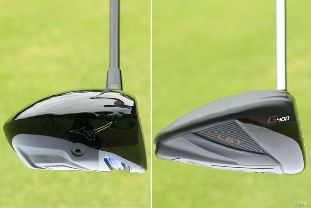 画像左が「ミズノプロ モデル-S」、右がシャローバック代表ピン「G400 LST」