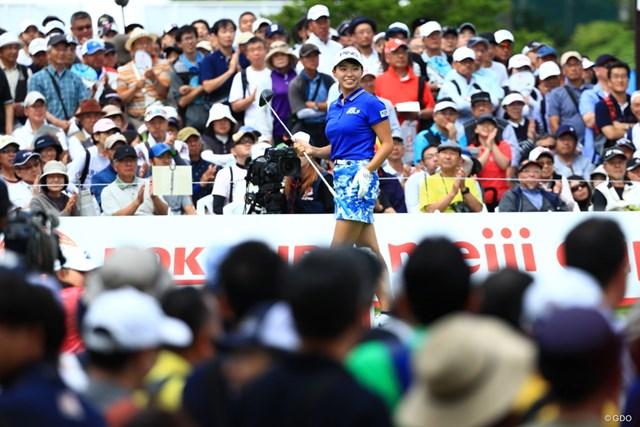 最後まで上位でプレーし、自らも凱旋大会を盛り上げた渋野日向子