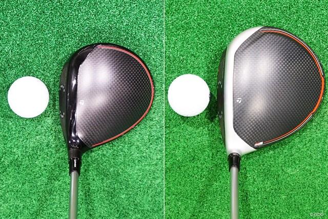 画像左が「オリジナルワン(ヘッド体積275cc)」、右が「M6(ヘッド体積460cc)」