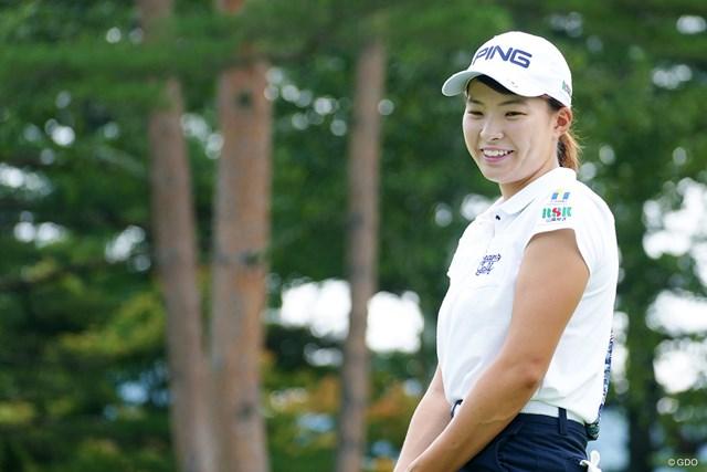 2019年 NEC軽井沢72ゴルフトーナメント 事前 渋野日向子 渋野日向子に元気な笑顔が戻ってきた