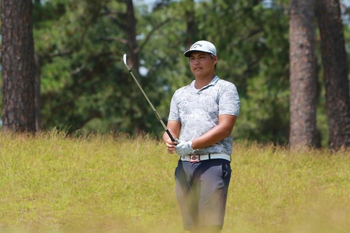 多くのチャンスを逃しながらも上位で2日目を終えた欧陽子龍 2019年 全米アマチュアゴルフ選手権 予選2日目