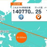 日本からフィンランドを経由してチェコに来ました 2019年 川村昌弘マップ