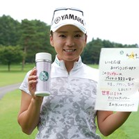 新グッズへの思いを語った有村智恵 2019年 NEC軽井沢72ゴルフトーナメント 事前 有村智恵