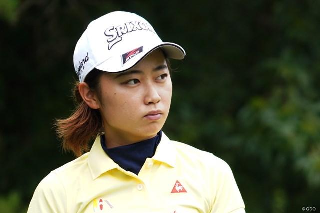 2019年 NEC軽井沢72ゴルフトーナメント 事前 安田祐香 鋭い表情で練習に励んだ安田祐香