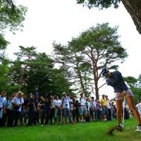 トラブルショットは勉強させていただきます 2019年 NEC軽井沢72ゴルフトーナメント 初日 小祝さくら