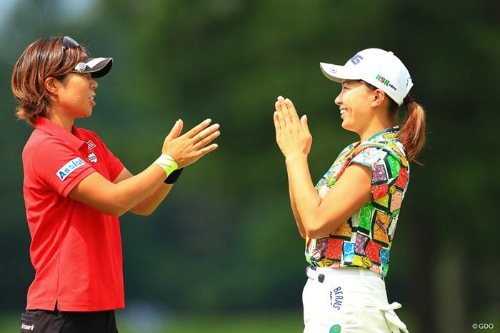 両者、お疲れ様です 2019年 NEC軽井沢72ゴルフトーナメント 最終日 穴井詩