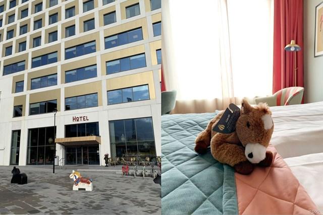 2019年 スカンジナビア招待 事前 イエーテボリのホテル 競馬場隣接のホテルだけあって、馬のオブジェが外にも部屋にも