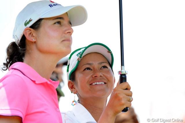2010年 HSBC女子チャンピオンズ初日 宮里藍、ロレーナ・オチョア オチョアがトップ、宮里が1打差。同組で好スタートを切った二人