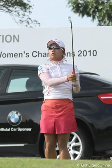 2010年 HSBC女子チャンピオンズ初日 有村智恵 明日こそはバーディを獲りたい!有村智恵