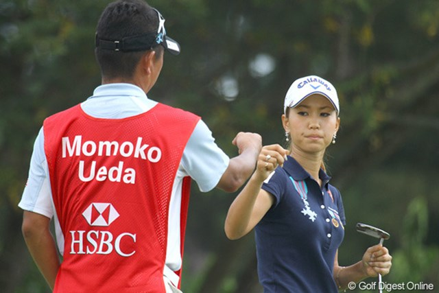 2010年 HSBC女子チャンピオンズ初日 上田桃子 しかし、直後の5番でバーディ奪取。お見事でした