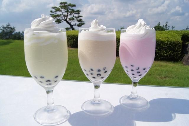 太平洋クラブ宝塚コースでは3種類のタピオカドリンクが飲める!