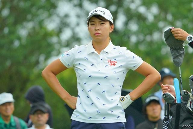 2019年 ニトリレディスゴルフトーナメント 初日 渋野日向子 この日はかみ合わないショットに納得のいかない様子も