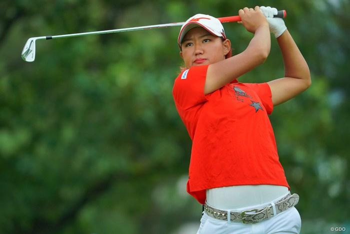 野澤真央が初日を5位で終えた 2019年 ニトリレディスゴルフトーナメント 初日 野澤真央