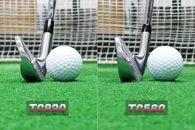TC-920 フォージド アイアン/ヘッドスピード別試打 「TC-920」は下部だけ肉厚なのが分かる