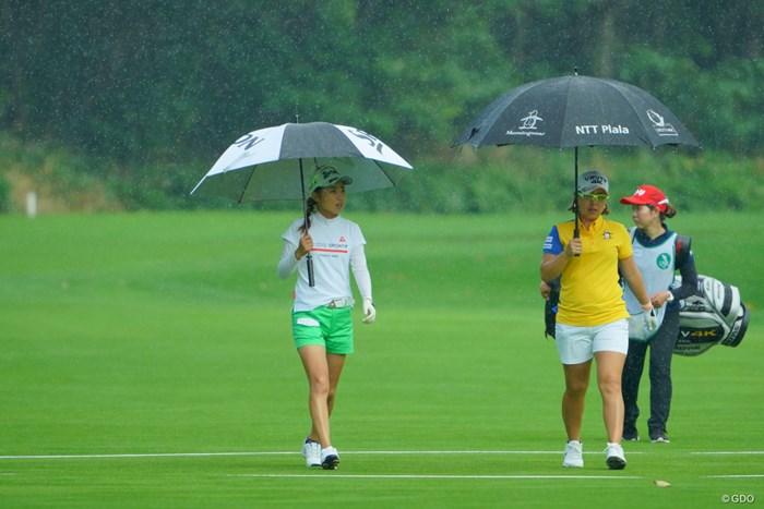 天気が急変。 2019年 ニトリレディスゴルフトーナメント 3日目 安田祐香 宮里美香