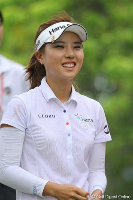2010年 HSBC女子チャンピオンズ3日目 H.Yパーク この日、上田と同組で回ったH.Yパーク。人目を引き付ける選手です