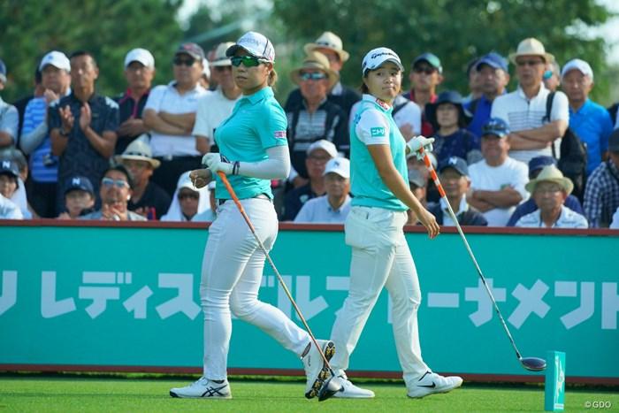 今日も同組でラウンドしたニトリーズ。 2019年 ニトリレディスゴルフトーナメント 最終日 岡山絵里 永峰咲希